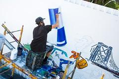 Red Bull (Always Hand Paint) Tags: advertising mural gate outdoor beverage progress ooh handpaint redbull colossal streetlevel b194 colossalmedia muraladvertising skyhighmurals alwayshandpaint kristalindahl redbullprogress