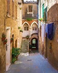 Castelmuzio  Alley (C.Fredrickson Photography) Tags: italy it tuscany toscana 2015 castelmuzio carlfredrickson wwwcfredricksonphotographycom ©carlfredrickson2015 topazimpression2