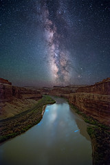 Colorado River in Canyonlands National Park (Wayne Pinkston) Tags: longexposure nightphotography sky night river stars utah nikon colorado nightscape canyon galaxy astrophotography canyonlandsnationalpark coloradoriver canyonlands nightsky cosmos milkyway widefieldastrophotography landscapeastrophotography waynepinkston wwwlightcraftercom wwwwaynepinkstonphotocom
