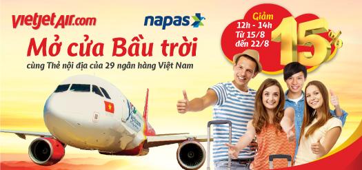 Mở cửa Bầu trời cùng Thẻ nội địa của 29 ngân hàng Việt Nam