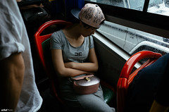 Sleeping In Transportation (unTed) Tags: ricoh gr 28mm city beijing china street streetphotography documentaryphotography people color snapshot