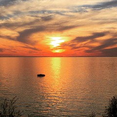 Port Dalhousie (St. Catharines) Ontario at Sunset. Looking over Lake Ontario. (mitchell.sager) Tags: warm sun summer colourfulsky hot sunset lakeontario clear sunny portdalhousie stcatharines