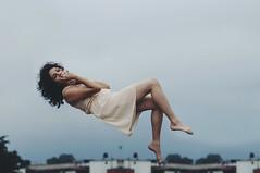 Defying Gravity. (Daniela De la Rosa) Tags: gravity girl woman self selfportrait autorretrato cold