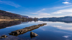 Loch Ard Stones (Paul S Ewing) Tags: loch ard stones canon calm scotland blue uk landscape