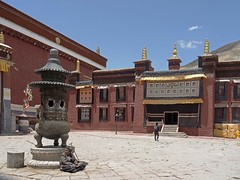 Sakya Monastery 12 (joeng) Tags: tibet china sakya temple building sakyamonastery landscape monastery people places