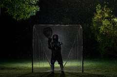 As Luck Would Have It 205/366 (Watermarq Design) Tags: rain nightphotography rainynight strobe lacrosse laxgoalie goaliecamp project366 kismet