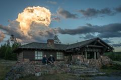 Sunset Storm Cloud (HubbleColor {Zolt}) Tags: travel yellowstonenationalpark sunset wy wyoming westyellowstone montana unitedstates us