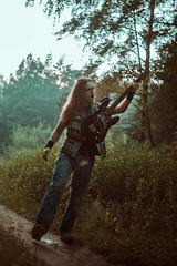 IMG_5167 (rodinaat) Tags: longhair longhairman longhairedman longhaired beard bearded metal metalhead powermetal trashmetal guitar musican guitarplayer brutal forest summer sun