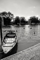 Begin your journey (jenkos1980) Tags: stratforduponavon stratford river riveravon boat rowingboat blackandwhite