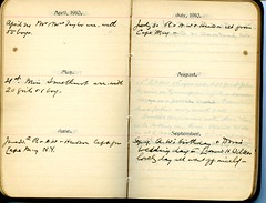 Diary of Robert Wallace p.54 (Community Archives of Belleville & Hastings County) Tags: 1880s 1890s 1900s 1910s 1920s diaries homechildren