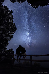 Limitless (mirkomanzofotografo) Tags: costellazioni stelle via lattea milkway love couple stars universo universe star alberi tree three blu blue light shadow lights