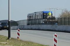 Eerste metro 2015-04-15 at 10-56-52 (Guda G) Tags: amsterdam metro transport nz noordzuidlijn amsterdamnoord nzlijn buiksloot northsouthline buikslotermeer proefrit nietinstappen nieuweleeuwarderweg nieuwepurmerweg eerstemetro