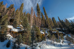 south-fork-hdr2 (Wildsight Photography) Tags: trees sky snow clouds colorado rocks south fork hdr