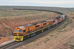 9112 Fail (Bingley Hall) Tags: train diesel transport engine rail railway transportation copper locomotive southaustralia ore freight emd gwa gt46cace wirrappa gwa002 geneseewyomingaustralia downerrail railpage:class=106 rpausagwaclass railpage:livery=39 railpage:loco=gwa002 rpausagwaclassgwa002 ozminerals 710g3c