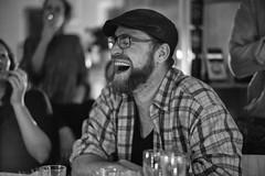 (Winfried Veil) Tags: leica blackandwhite bw man berlin laughing germany beard deutschland 50mm veil bart rangefinder sw mann schwarzweiss summilux asph winfried m9 lachend 2013 messsucher leicam9 winfriedveil