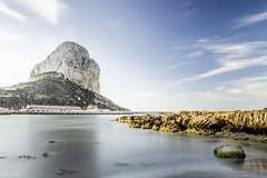Penyal d'Ifac (Javier_Cerezo) Tags: espaa beach rock de dawn spain playa alicante amanecer filter 400 nd roca mediterrneo calpe filtro ifach nikond3200 peon penyal difac sigma1750mmf28