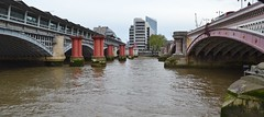 Blackfriars Bridges, River Thames, London. (greentool2002) Tags: city bridge london thames river calvi bridges railway gods hanging blackfriars roberto murdered banker