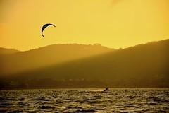 Sunset at Lagoon (Billy W Martins ) Tags: prdosol lake lagoon lagoa lagoadaconceio costadalagoa floripa florianpolis nikon d7100 winter inverno sport water kitesurf kitesurfing esporte vela sail watersport surface surfing