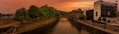 Panorama Sambre -Namur (Yasmine Hens) Tags: sambre panorama eau water sunset coucherdesoleil hensyasmine hens yasmine flickr namur belgium wallonie europa ngc