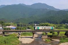 Slow train (Teruhide Tomori) Tags: train railway railroad shikoku tokushima mugi japan japon landscape jr mountain 1500series  jr     countryside singlecardieselmultipleunit