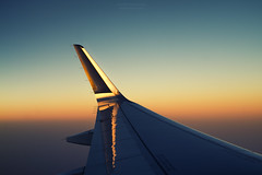 Sunrise Wing (Alex Apostolopoulos) Tags: airplane flight reflection sunrise wing greece aegean sony sonya6000 ilce6000 minolta minoltamd35mmf28 manualfocus