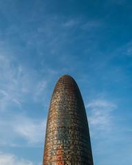 Torre Agbar (minuano12) Tags: 0067 barcelona europa interrail torreagbar catalunya espaa