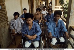 0000125933-001 (ngao5) Tags: people men war asia southeastasia vietnamese asians wheelchair group battle vietnam patient disabled males adults saigon hochiminhcity civilian amputated medicalequipment midadult midadultman southvietnam southeastasians historicevent asianhistoricalevent northamericanhistoricalevent unitedstateshistoricalevent vietnamwar19591975 vietnamesehistoricalevent southeastregion conghoamilitaryhospital