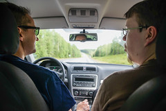 Driving back to Uumaja (TimoOK) Tags: sweden timo mikko ruotsi
