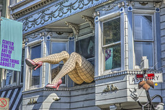 Do Something About It (magnetic_red) Tags: sanfrancisco urban window stockings sign hippies lady peace legs haightashbury heels dosomethingaboutit