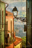 walk down the street (silviaON) Tags: street city portugal lamp outdoor porto textured flypaper caminhoportugues kerstinfrankart