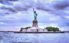 Destination Liberty! (toddwendy) Tags: new york city nyc blue sea usa newyork water statue buildings freedom see harbor united east states libert