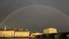 Rainbow Over County Hall 2 (cherylea_cater) Tags: london thames river rainbow boattrip shard countyhall teamnight