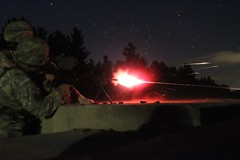 New York National Guard (The National Guard) Tags: nationalguard national guard guardsman guardsmen soldier soldiers airmen airman us united states america usa army air force military troops ng new york ny nyng weapons drill weekend shooting m240b machine gun night stars dark