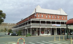We drive past the Palace Hotel in Broken Hill (spelio) Tags: railing verandah hotel nsw broken hill