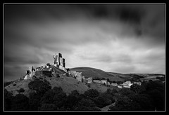 Corfe Castle BORDER (mrcheeky2009) Tags: corfecastle lanscape drama blackandwhite fineart canon5diii canon1740mm longexposure tenstopper 10stopper