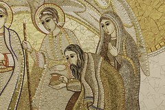 Abraham & Sarah at Mamre (Lawrence OP) Tags: angel washingtondc mosaic encounter nationalshrine theophany mamre markorupnik stjohnpaulii
