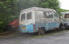 Renault Trafic x2 (occama) Tags: old uk french 1982 cornwall renault 1983 van camper scrap trafic bko170y