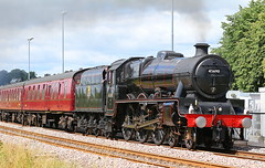 """LMS Jubilee class """"LEANDER"""" 45690 (P.J.S. PHOTOGRAPHY) Tags: lms jubilee class leander 45690 malton crossing steam special 460"""