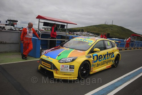 Alex Martin on the grid during the BTCC Knockhill Weekend 2016