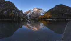 Italy. Dolomites. Morning on Lake Braies (naumenkophotographer.com.ua) Tags: alpine alps autumn beautiful blue braies di dolomite dolomites dolomiti europe forest green hiking house italian italy lago lake landscape mountain nature outdoor panorama park peak pond rock scenery seekofel south sudtirol tourism tranquil travel trees trentino turquoise tyrol valley water