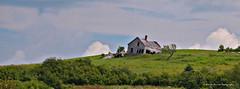 Sur la butte / On the hill (deplour) Tags: prdenhaut ferme butte maison abandonne champs nuages farm hill abandonned house field clouds inexplore explorer explored