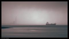 """soft day"" (Neil Tackaberry) Tags: shannon river estuary rivershannon shannonriver shannonestuary ship vessel boat arriving tarbert power station rain precipitation mist dull gloomy atmospheric atmosphere heavy weather irish ireland july 2016 summer irishsummer wintry"