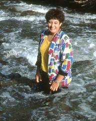 Favorite jacket, Boulder Creek, 1986 (clarkfred33) Tags: bouldercreek colorado wetadventure wetfun wetlady rapids water wade splash 1986 wetjacket wetlook favorite scenicstream jacket stream wetwoman nature