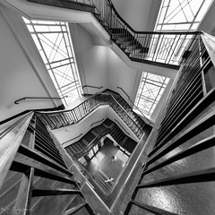 _DSC6204-Panorama-copy (2careless) Tags: open house melbourne 2016 sony a7r2 samyang 14mm f28 bw themailexchange architecture spiralstaircase mt