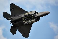 F-22 Raptor (Bernie Condon) Tags: lockheedmartin f22 raptor usaf fighter stealth military warplane jet riat riat16 airtattoo tattoo ffd fairford raffairford airfield aircraft plane flying aviation display airshow uk 2016