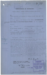 Part of the coroners inquest report for Annie Smyth (Archives New Zealand) Tags: archivesnewzealand archives archivesnz wairoa hawkesbay salvationarmy death 1942 coronersinquest newzealand newzealandhistory nz nzhistory