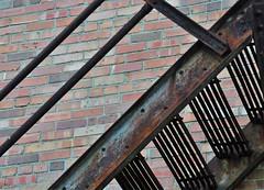 Fire Escape (Elizabeth Almlie) Tags: pipestone minnesota historicbuilding brick fireescape