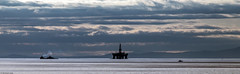 Oil rig and support vessels; Moray Firth, Scotland (Michael Leek Photography) Tags: offshoreindustry offshoreship offshorevessel morayfirth moray clouds weather sunset panorama panoramic michaelleek michaelleekphotography oilindustry oilplatform oilrig portknockie invergordon mountains sutherland scotland thisisscotland scottishlandscapes scottishcoastline scottishhighlands awesomescotland sea