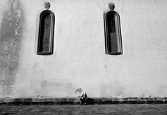 A Place to Think (Captivating Concepts) Tags: blackandwhite travel italy city grit fringe thought architecture church wall abroad europe experience weary black white
