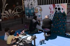 Aula de Arte Callejero (Egg2704) Tags: artecallejero mural murales pintura exposicin pintada streetart egg2704 semanaculturaldelamadalenazaragoza semana cultual de la madalena wewanttobefree